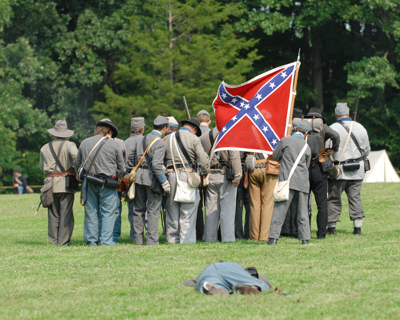 Heritage days three. Civil war soldier, at heritage days stock photography