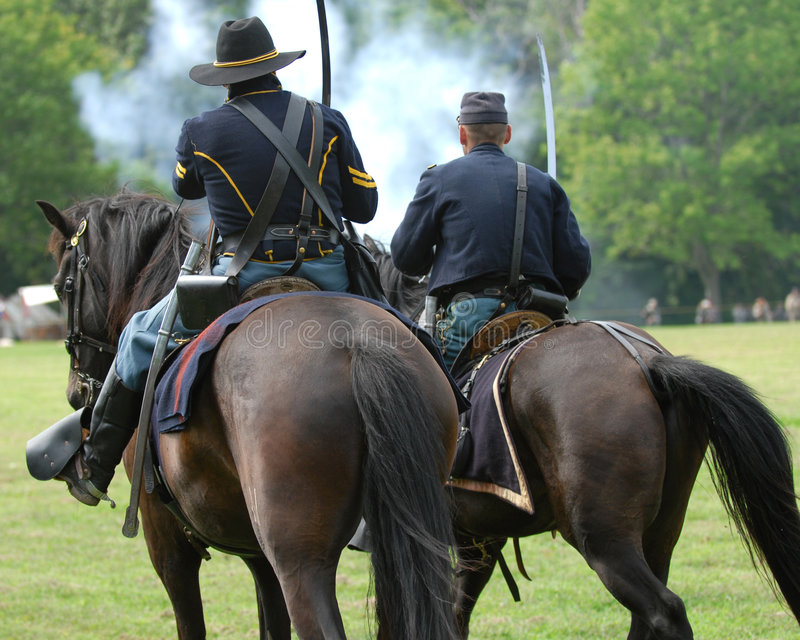Heritage days two. Civil war soldier, at heritage days stock photo