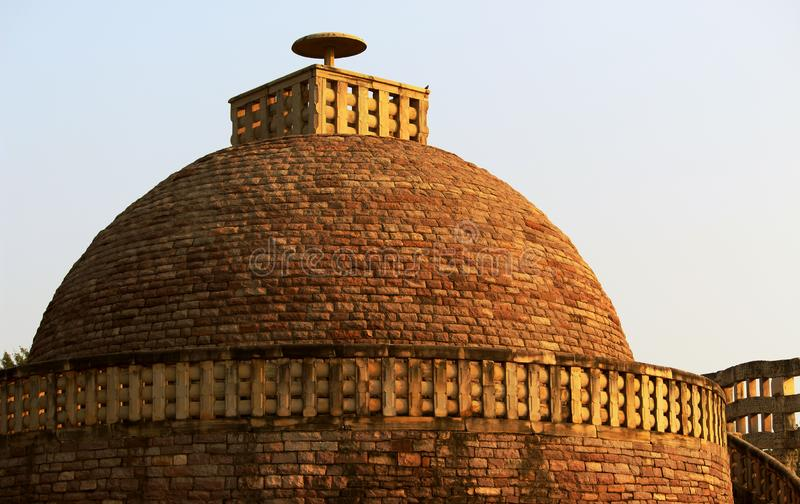 Heritage Dome at Sanchi Stupa royalty free stock photo