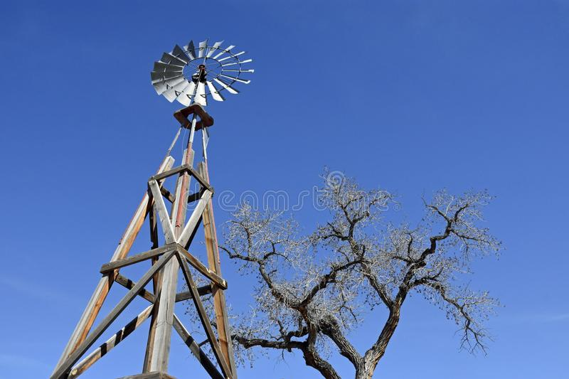 Heritage Farm House wind Mill royalty free stock images