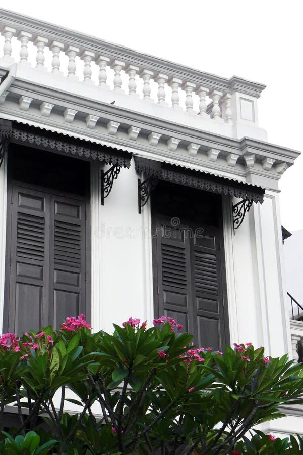 Heritage historic house China town singapore stock image