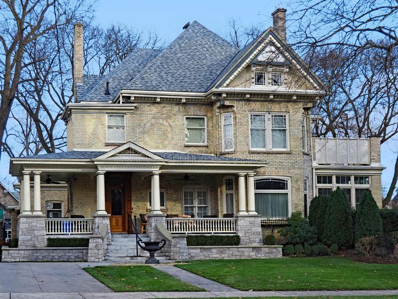 Heritage home with Victorian style detailing stock photo