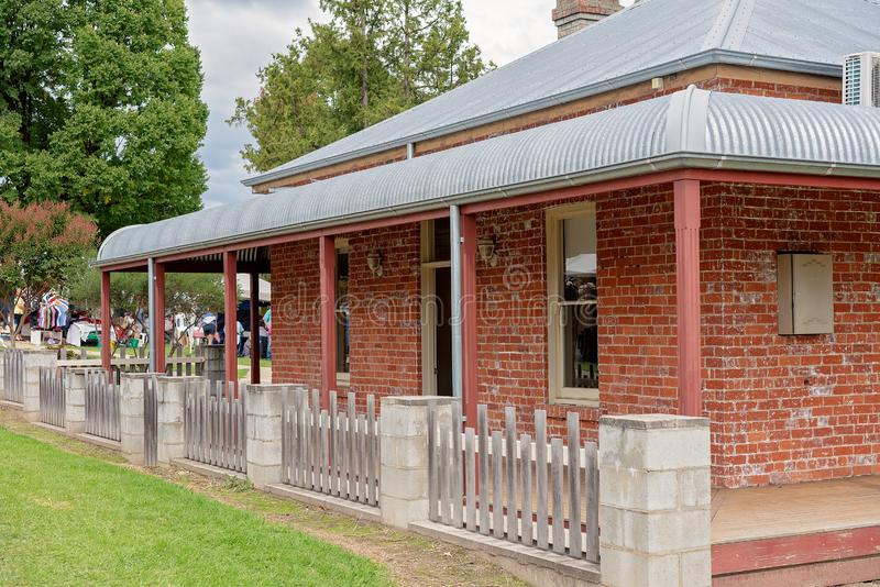 Heritage Listed Cottage In Victoria. A heritage listed cottage open to the public in a Corryong outdoor park, Victoria Australia stock photos