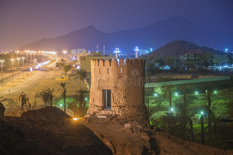 Heritage mosque in fujairah UAE royalty free stock photography