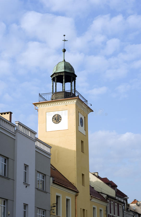 Heritage in Rybnik (Poland). Heritage in Rybnik on blue sky in (Poland royalty free stock photography