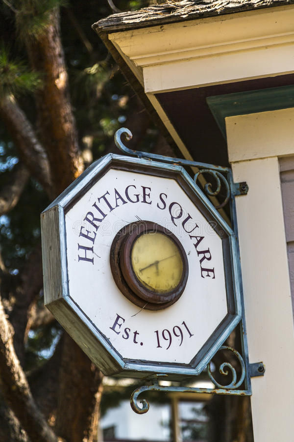 Heritage Square Sign. In Oxnard, California stock photo