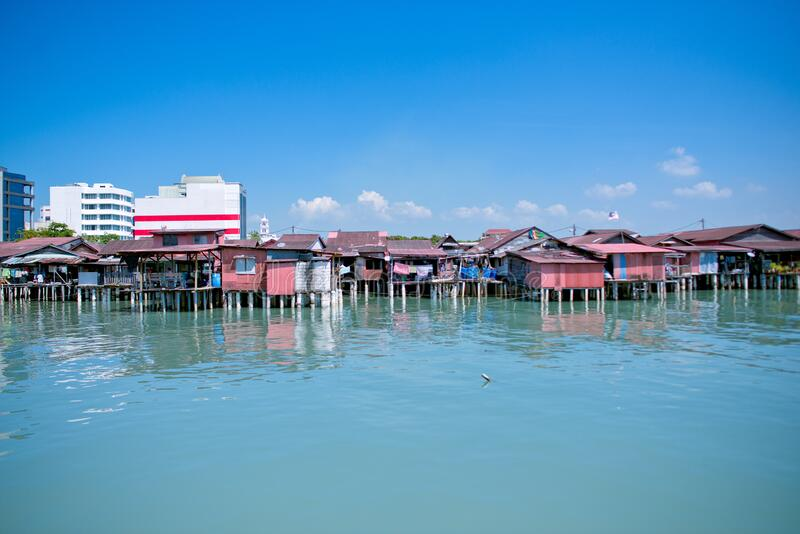 Heritage stilt houses of the Chew Clan Jetty, George Town, Penang, Malaysia stock photos