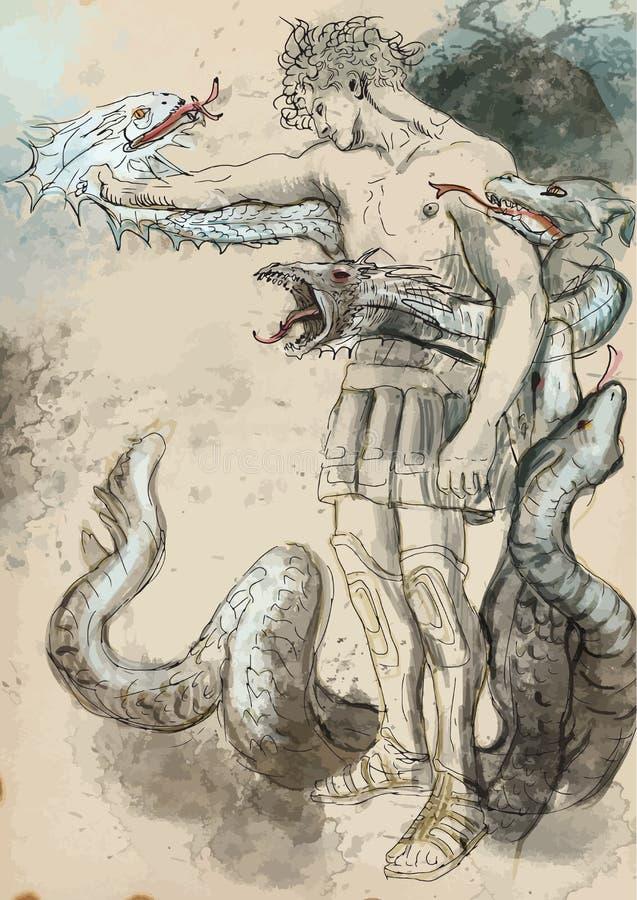 Herkules lizenzfreie abbildung