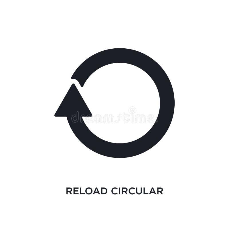 herladen cirkelpijl geïsoleerd pictogram eenvoudige elementenillustratie van de uiteindelijke pictogrammen van het glyphiconsconc stock illustratie