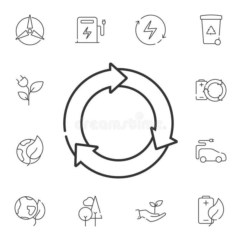 Herladenpictogram Eenvoudige elementenillustratie Het ontwerp van het herladensymbool van de reeks van de Ecologieinzameling Kan  royalty-vrije illustratie