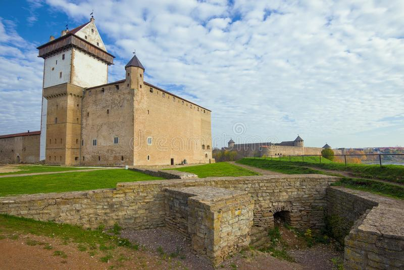 In the Herman castle. Narva, Estonia. In the Herman castle on a October afternoon. Narva, Estonia royalty free stock photography