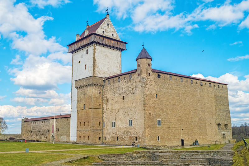 Herman Narva Castle lizenzfreie stockfotos