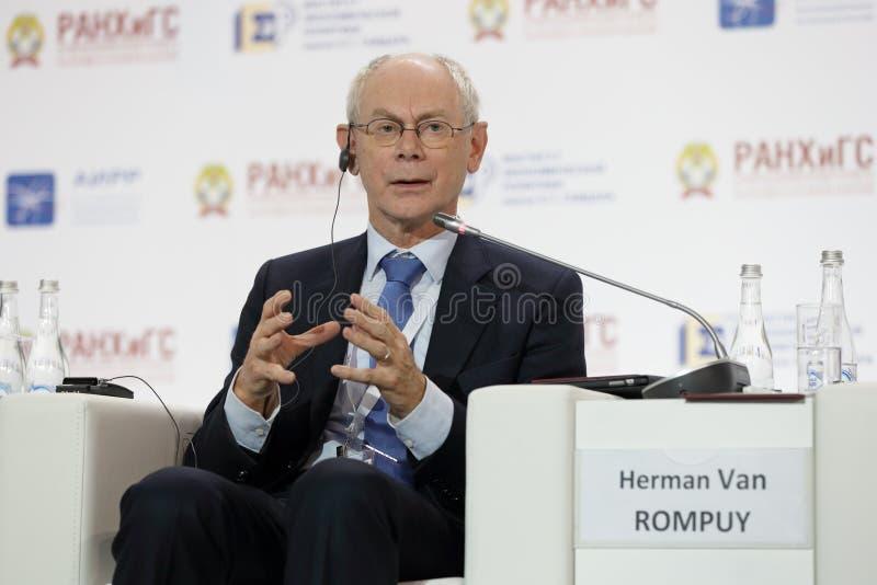 Herman Van Rompuy royalty-vrije stock afbeeldingen