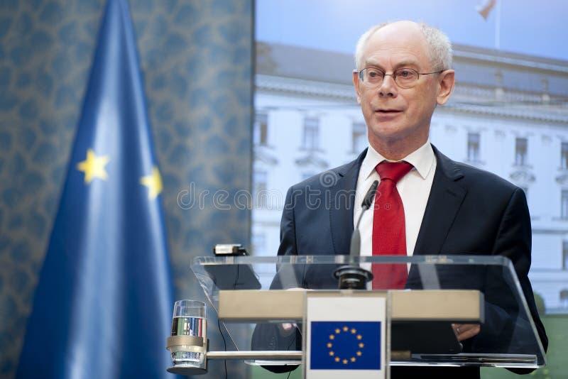 Herman Van Rompuy royalty-vrije stock foto