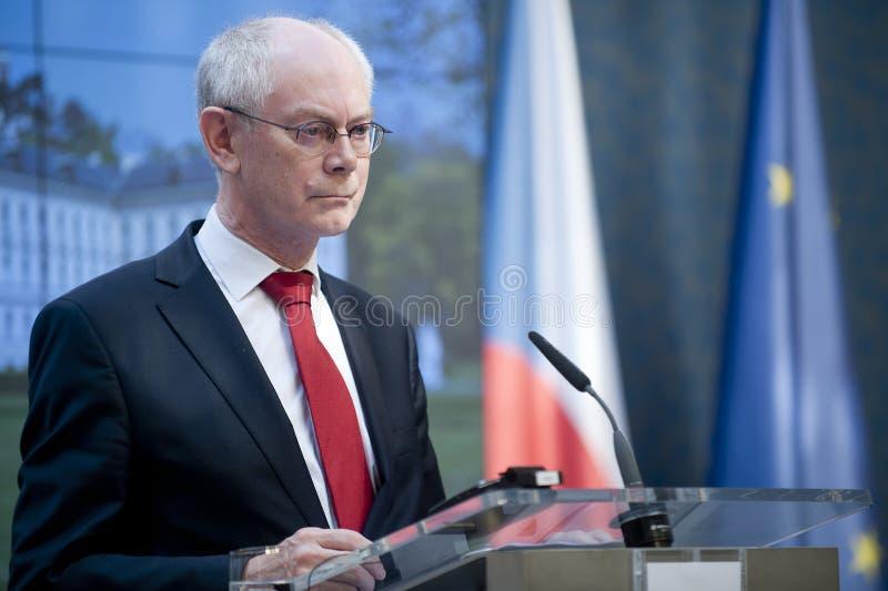 Herman Van Rompuy royaltyfri bild