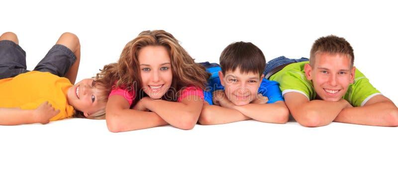 Hermana y hermanos felices foto de archivo libre de regalías