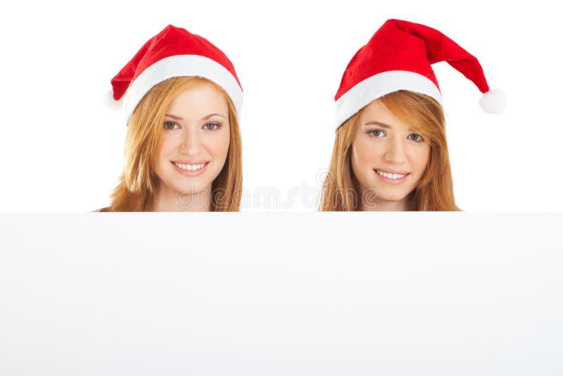 Hermanas de la Navidad fotografía de archivo libre de regalías