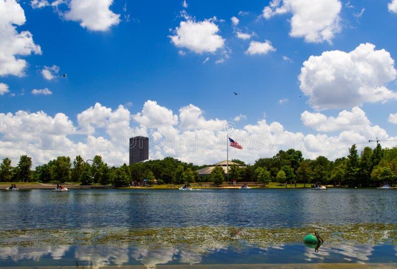 Hermann паркует озеро, Хьюстон, Техас, США стоковые фото