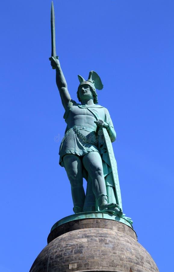 Hermann Monument in Germania fotografia stock