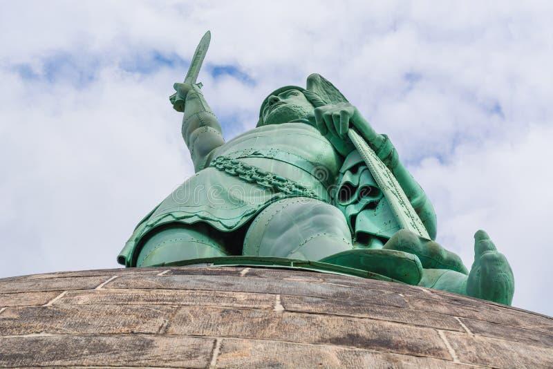 Hermann Monument na floresta de Teutoburg em Alemanha fotos de stock