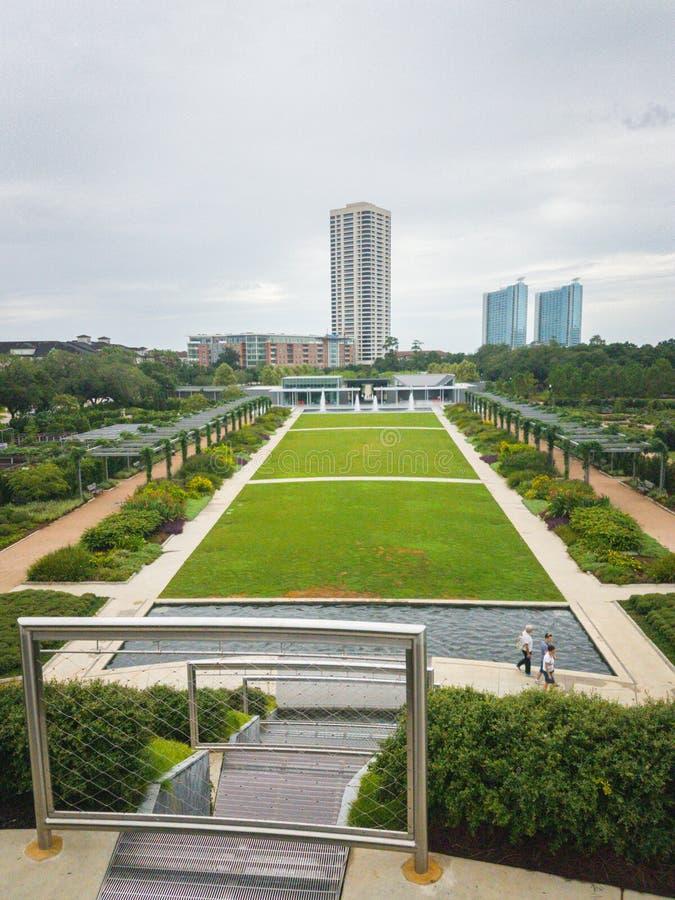 Hermann Park, distretto del museo, Houston immagini stock libere da diritti