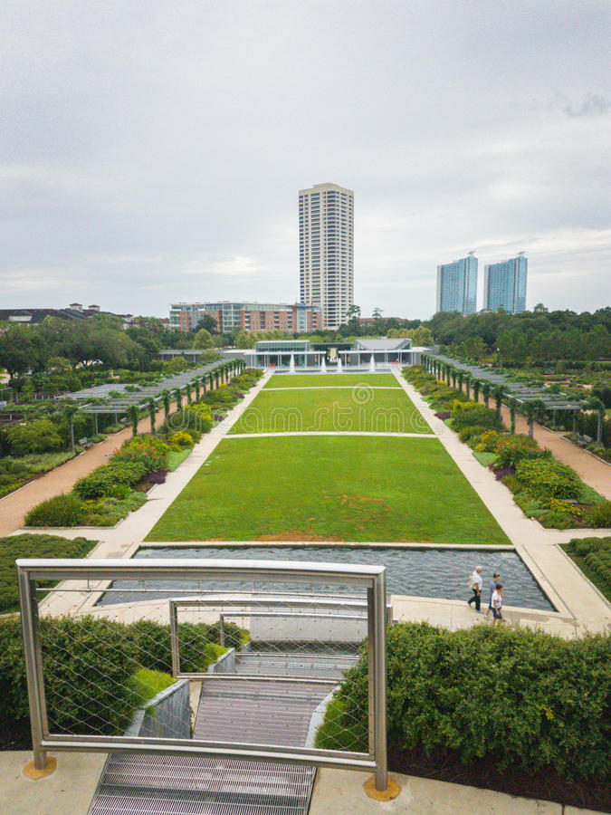 Hermann Park, distrito del museo, Houston imágenes de archivo libres de regalías