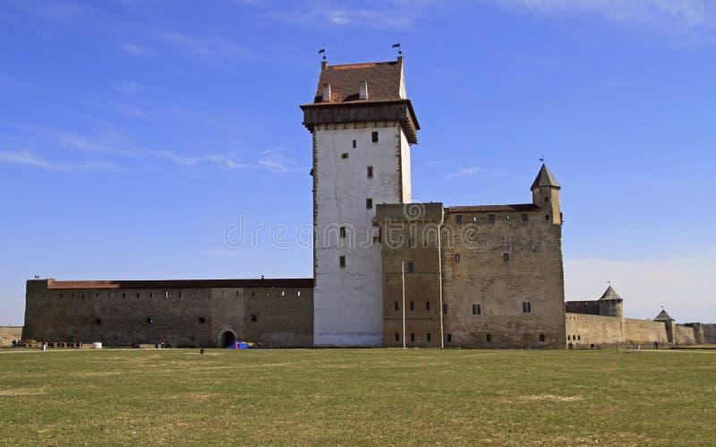 Hermann slott i Narva, Estland arkivbild