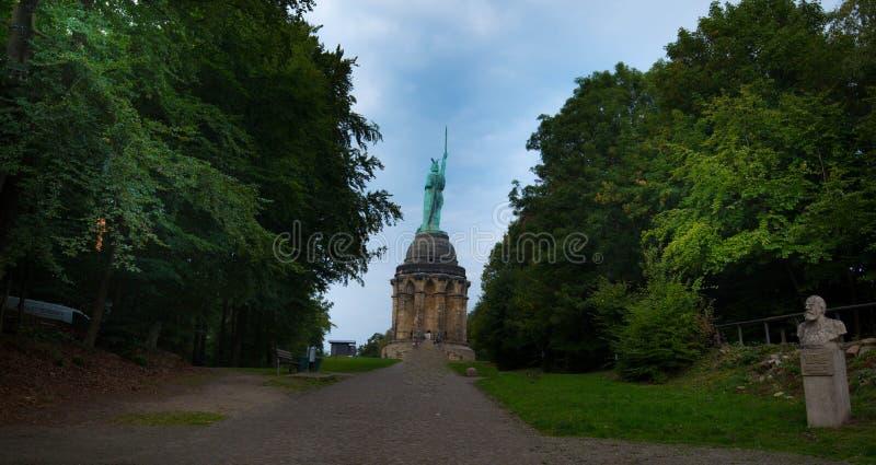 The Hermannsdenkmal monument of Herman the German in East Westphalia royalty free stock image