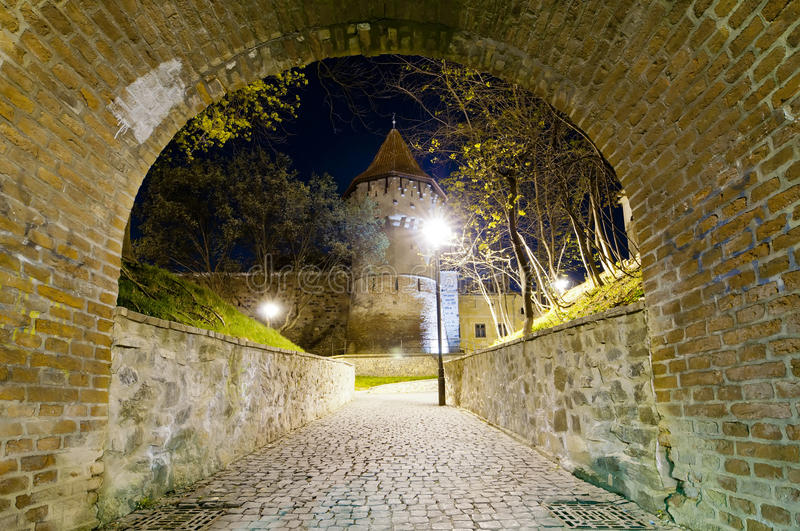 Hermannstadt at night stock image