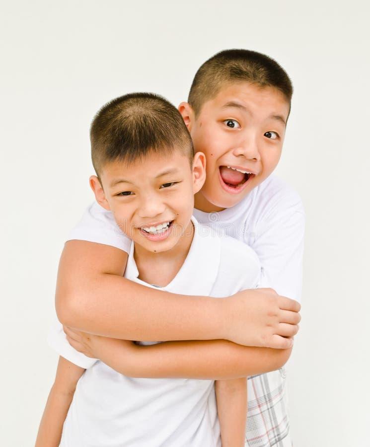 Hermano asiático feliz fotografía de archivo libre de regalías