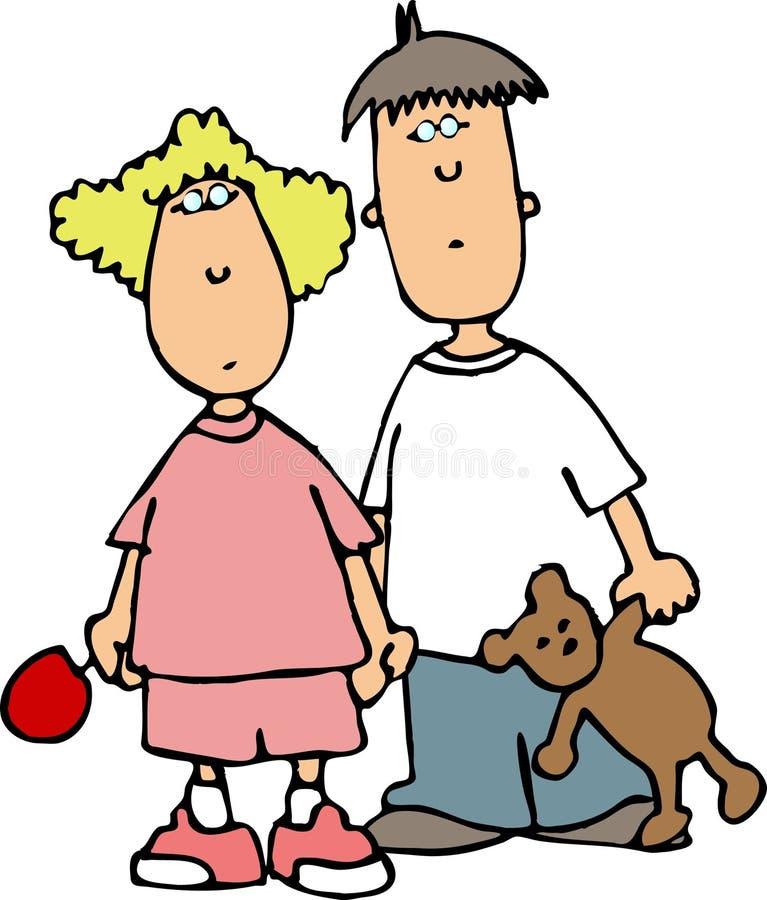 Hermano y hermana II stock de ilustración