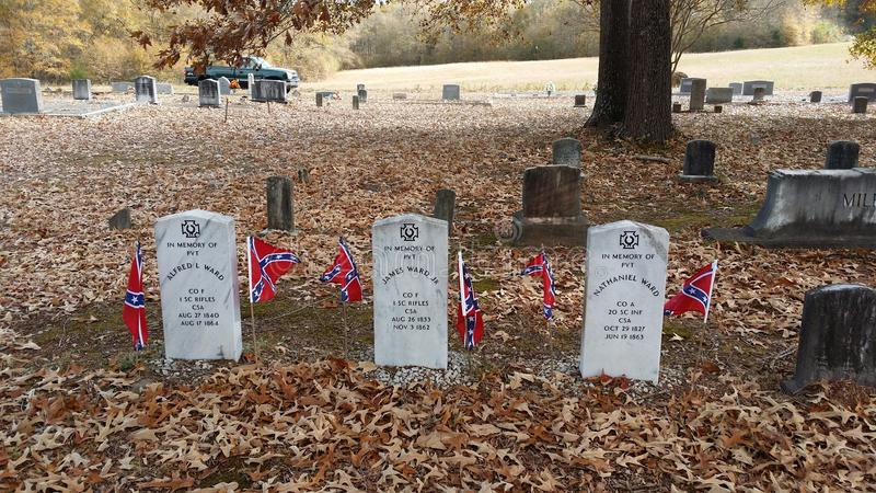 Hermanos confederados fotos de archivo libres de regalías