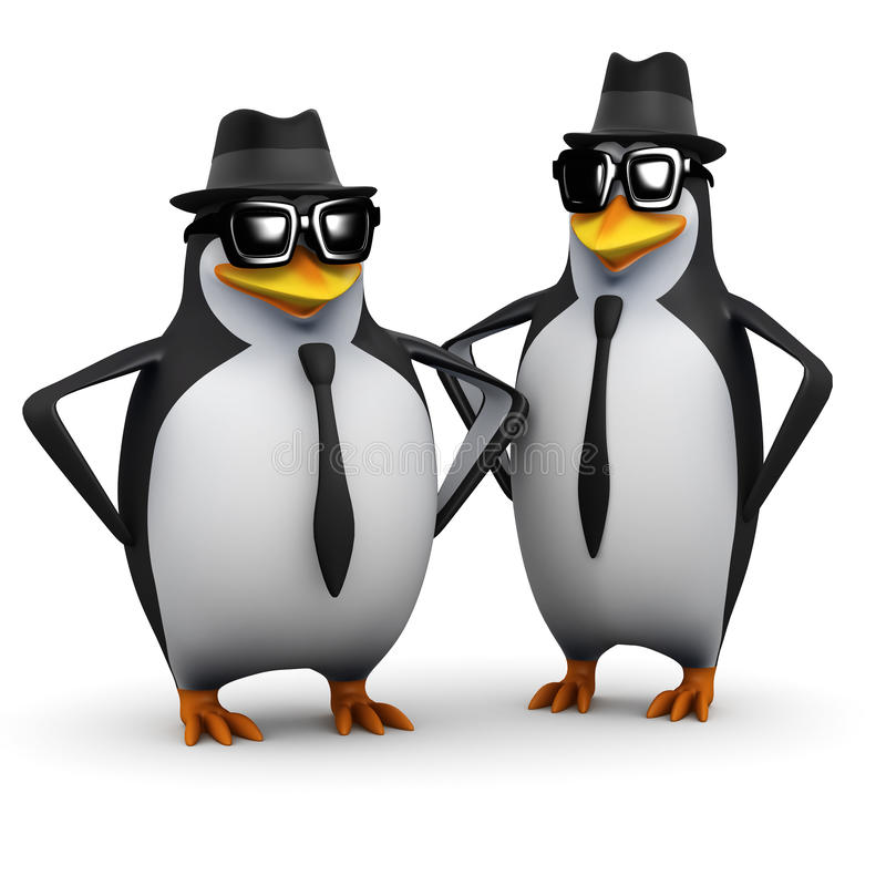 hermanos del pingüino 3d libre illustration