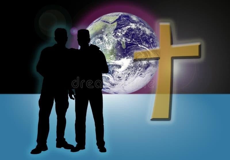 Hermanos en la fe stock de ilustración