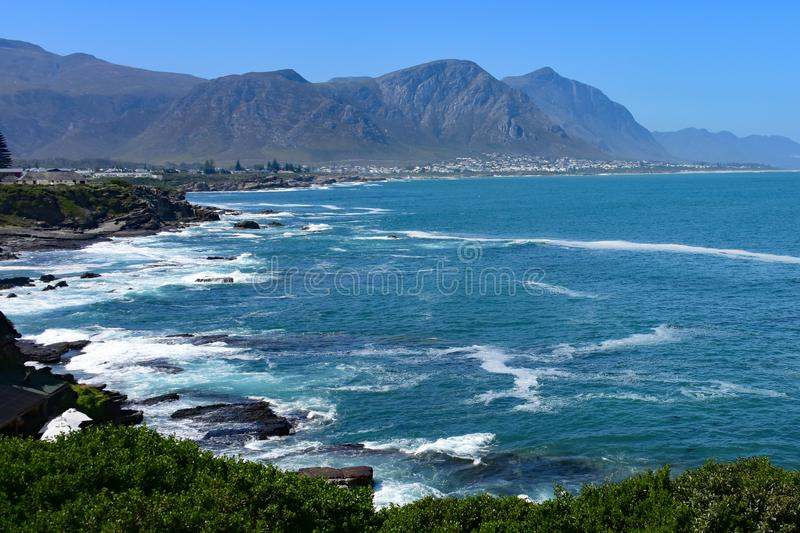Hermanus, whale watching town, Western Cape, South Africa royalty free stock photo