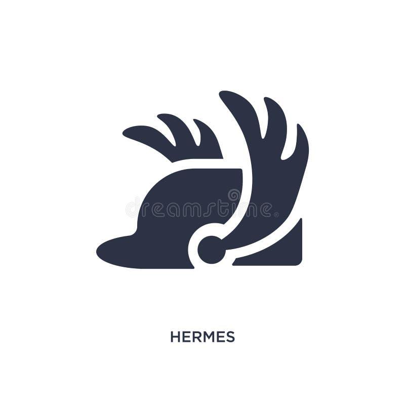 hermes εικονίδιο στο άσπρο υπόβαθρο Απλή απεικόνιση στοιχείων από την έννοια της Ελλάδας απεικόνιση αποθεμάτων