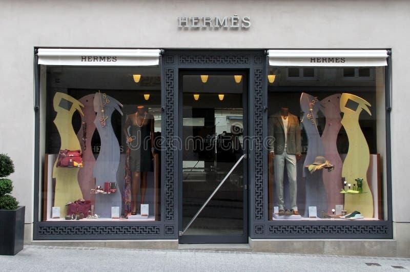 hermes бутика роскошные стоковое фото rf