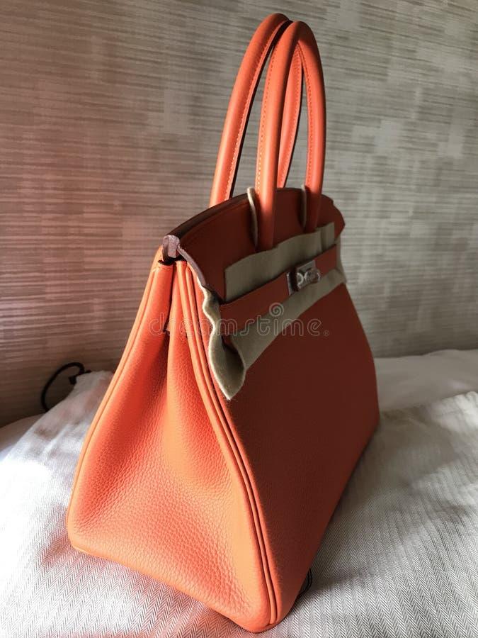 Hermes Birkin rozmiaru 30 Togo skóra z phw zdjęcie royalty free