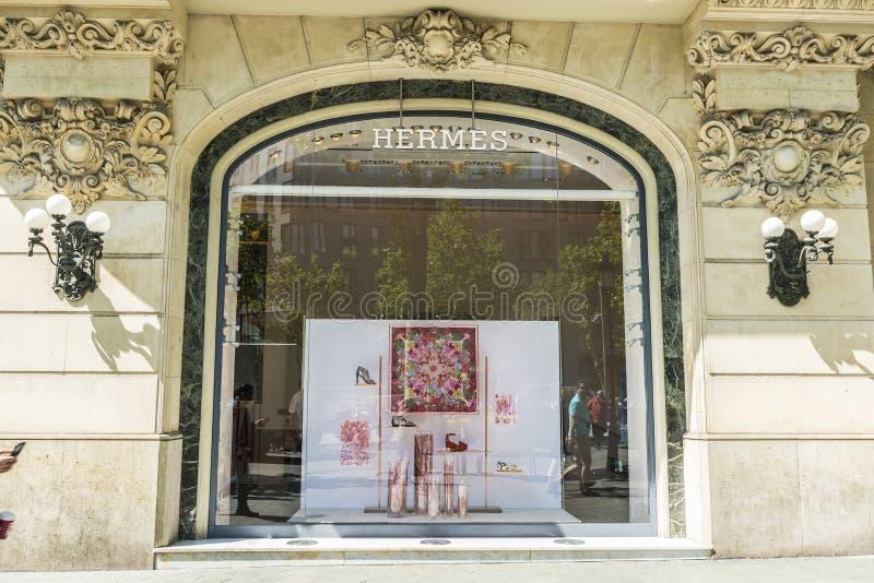 Hermes compra, Barcelona fotografia de stock royalty free