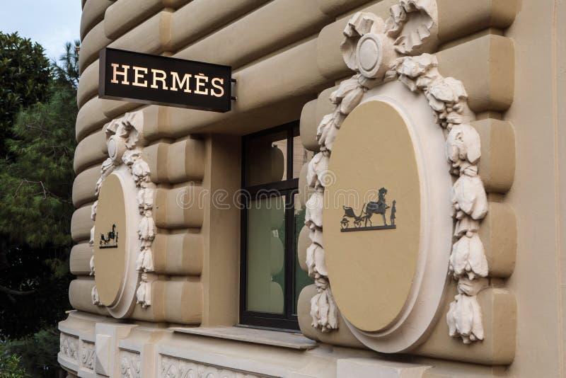 Hermes compra em Monte - Carlo, Mônaco imagem de stock