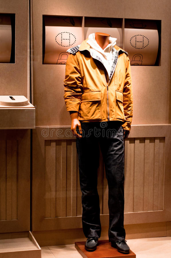 Hermes Fashion Mannequin Display stock photos
