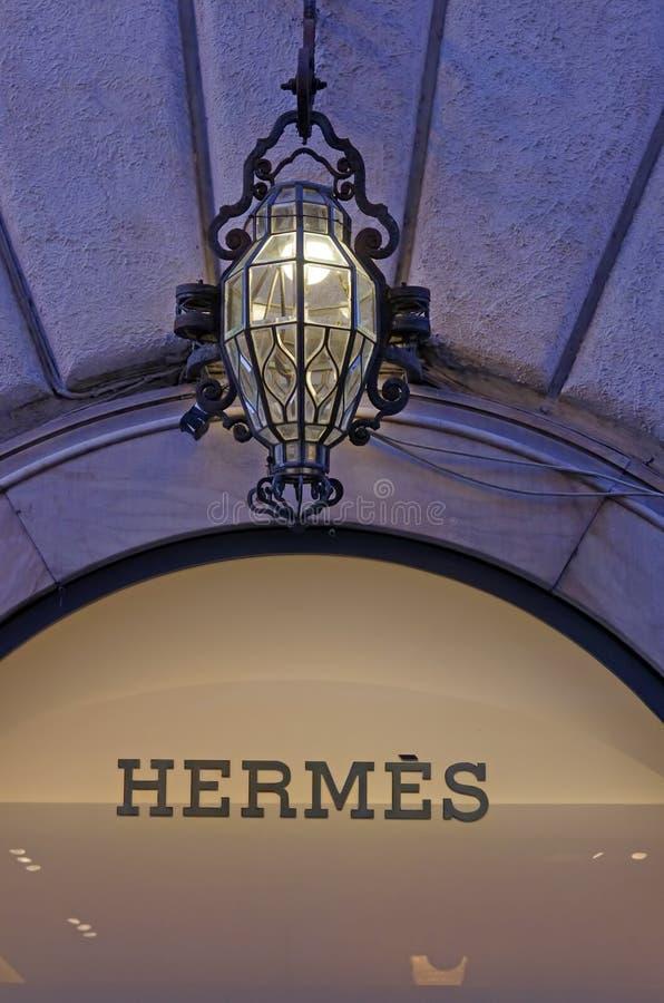 Hermes fashion store vector illustration