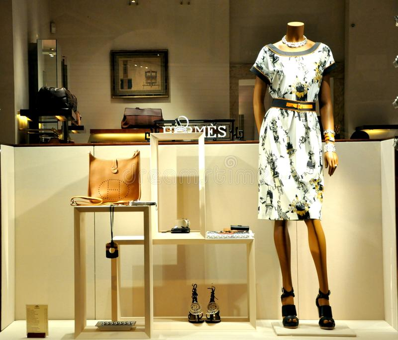 Hermes fashion store in Italy stock photos