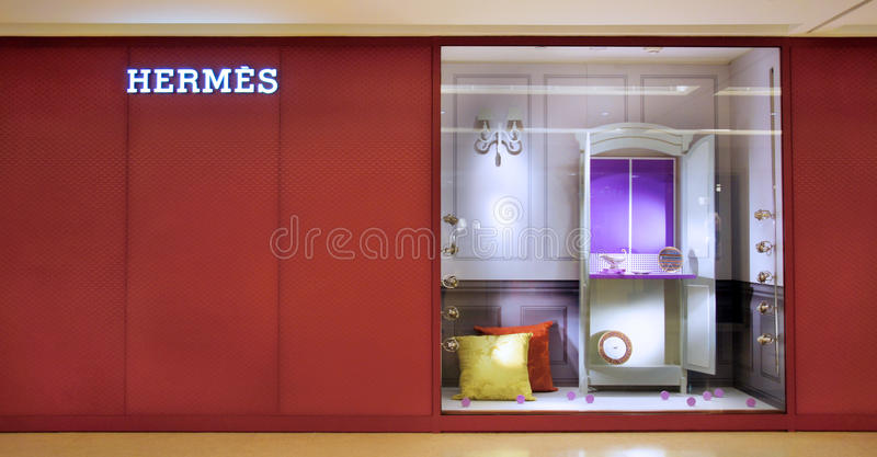 Hermes forma la tienda en China fotos de archivo libres de regalías