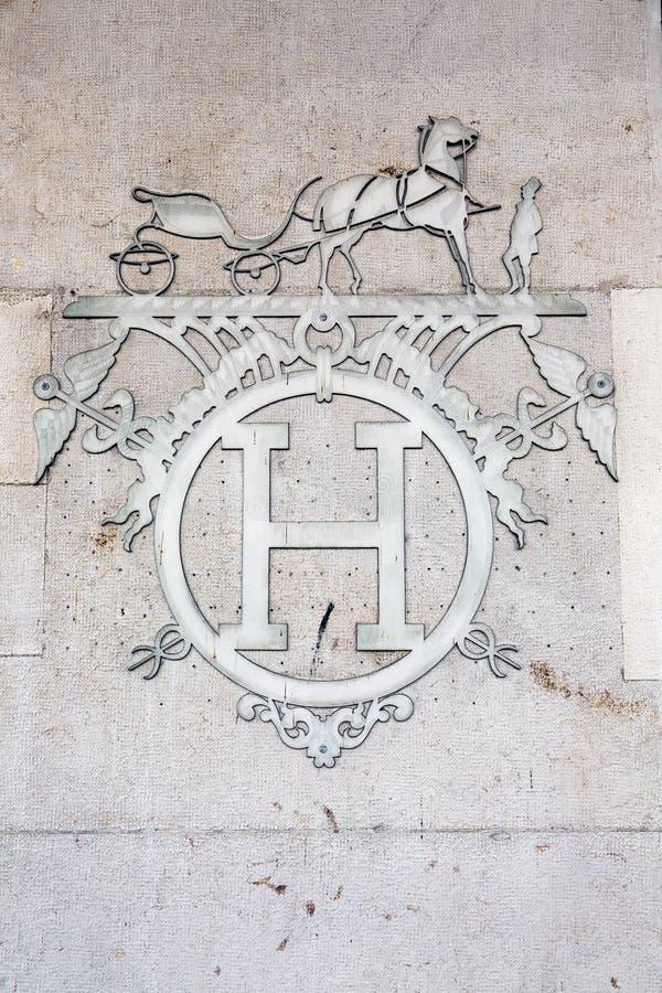 Hermes logo arkivbild