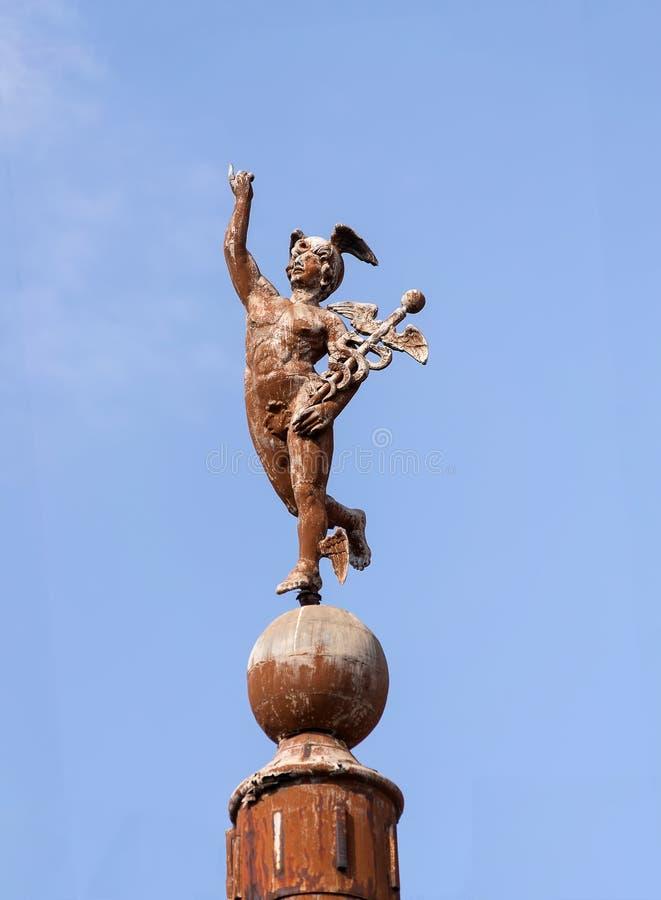 Hermes Mercury-Statue lizenzfreies stockfoto