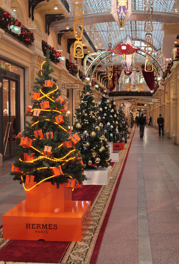 Hermes Shop Christmas Decoration Editorial Stock Photo ...