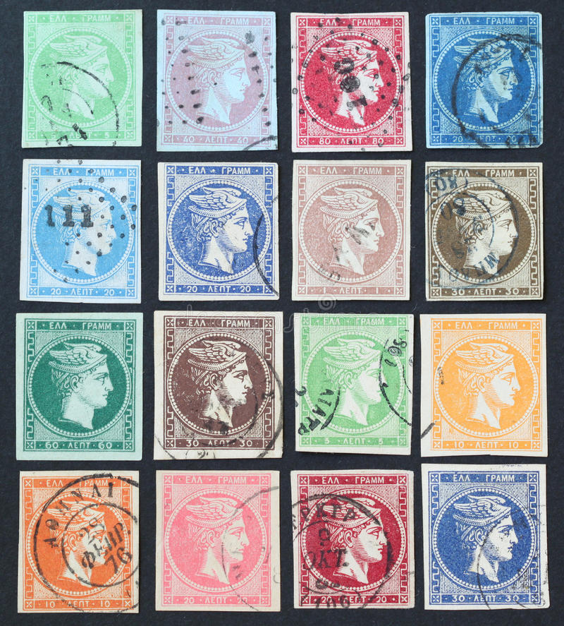 Hermes stamps stock images