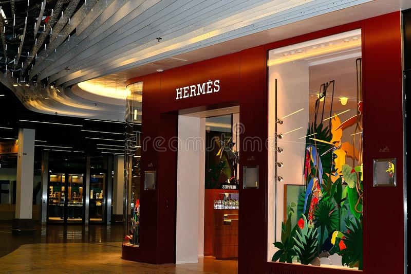 hermes store in Schiphol airport, Holland royalty free stock photos