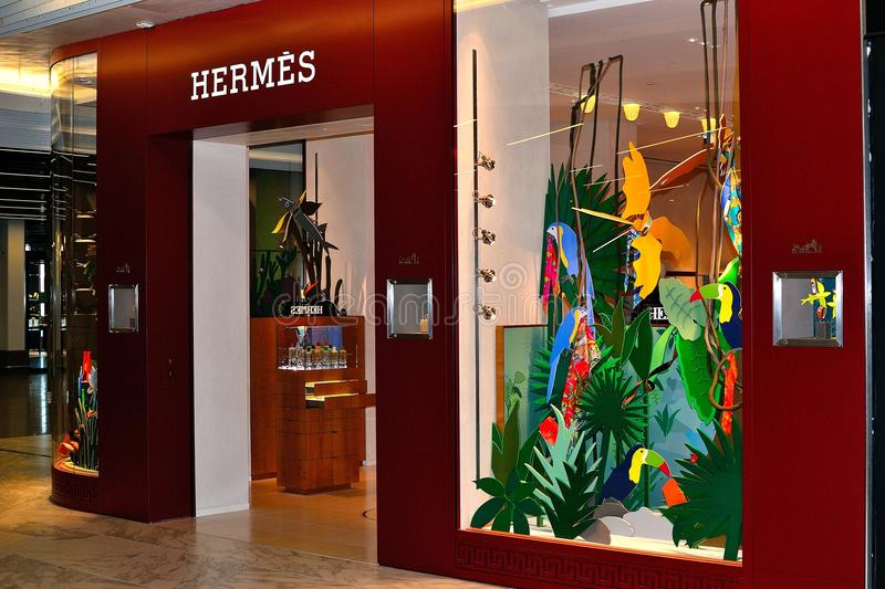 hermes store in Schiphol airport, Holland stock image